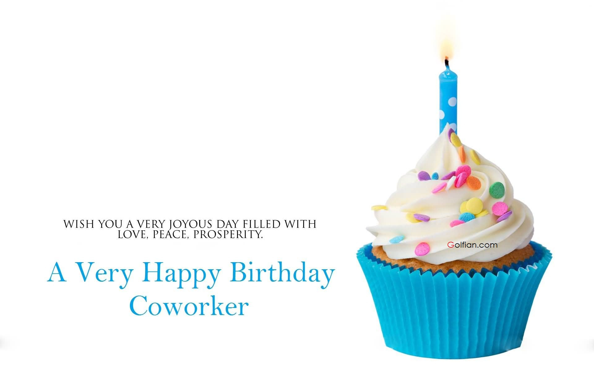 Best ideas about Coworker Birthday Wish . Save or Pin 60 Beautiful Birthday Wishes For Coworker – Latest Now.
