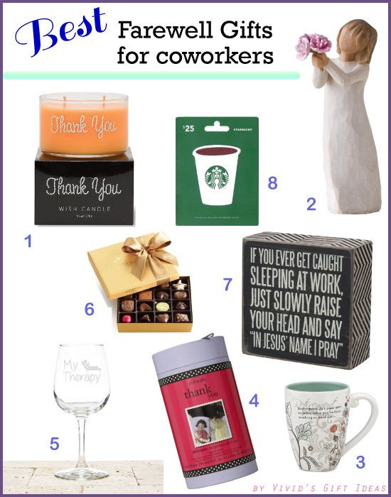 Best ideas about Coworker Gift Ideas . Save or Pin Top 8 Farewell Gift Ideas for Coworker Updated May 2017 Now.