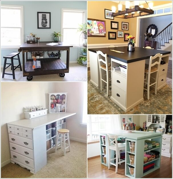 Best ideas about Craft Desk Ideas . Save or Pin 10 Cool DIY Craft Table Ideas for Your Craft Room Now.