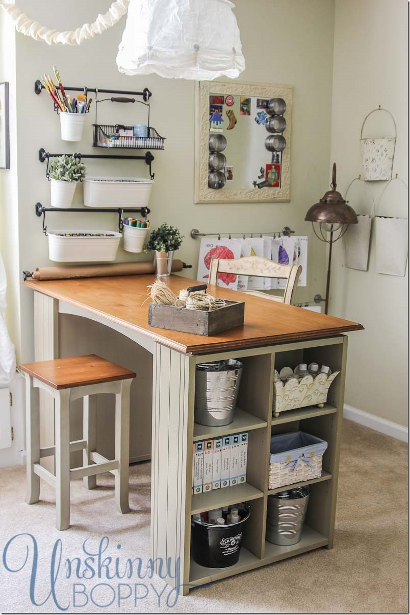 Best ideas about Craft Desk Ideas . Save or Pin Updating and Organizing the Craft Room Unskinny Boppy Now.
