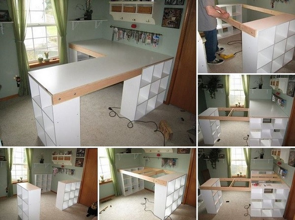 Best ideas about Craft Desk Ideas . Save or Pin DIY Project Custom Craft Desk Now.
