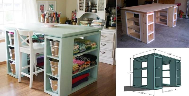 Best ideas about Craft Desk Ideas . Save or Pin Wonderful DIY Perfect Craft Table Now.
