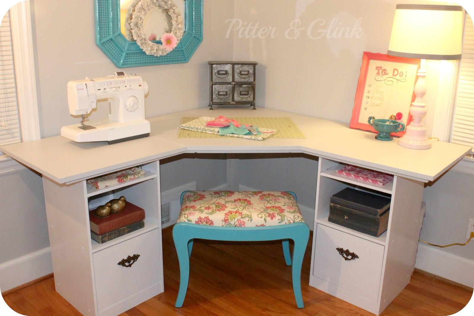 Best ideas about Craft Desk Ideas . Save or Pin PitterAndGlink Craft Room Corner Desk Now.