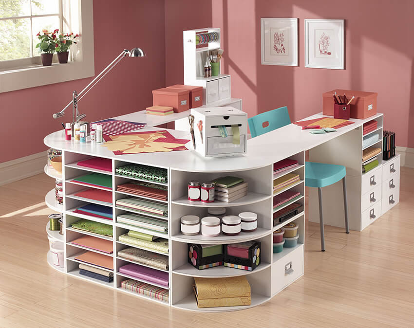 Best ideas about Craft Desk Ideas . Save or Pin 13 Clever Craft Room Organization Ideas for DIYers Now.