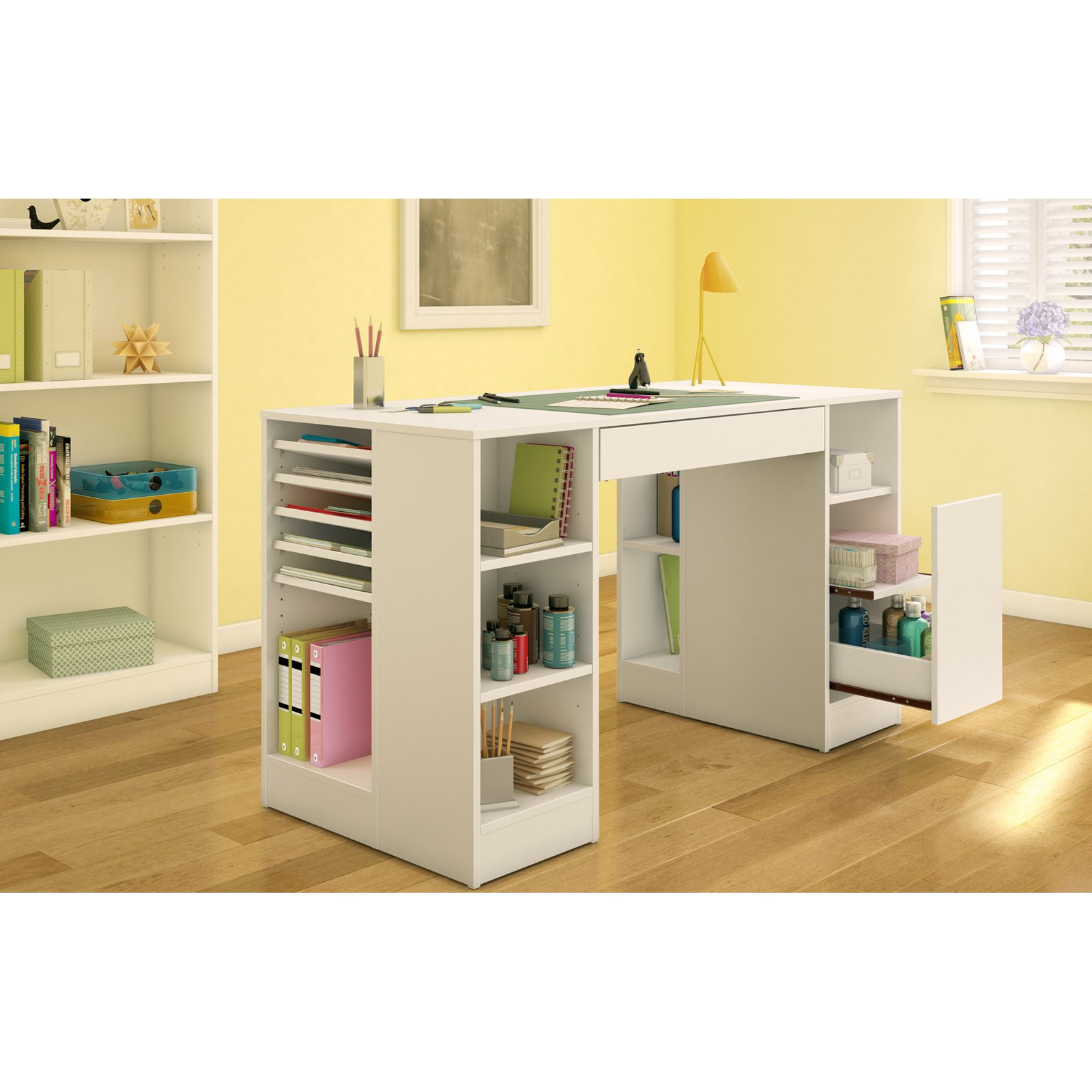 Best ideas about Craft Desk Ideas . Save or Pin South Shore Crea Craft Table Pure White Sewing Now.