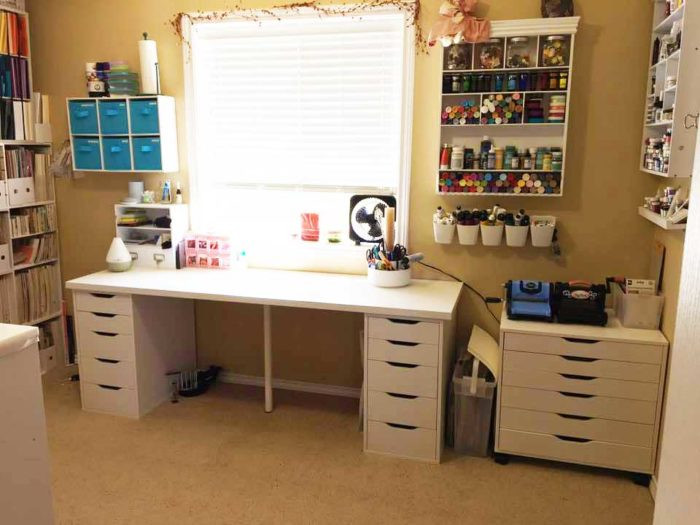 Best ideas about Craft Desk Ideas . Save or Pin The Best IKEA Craft Room Tables and Desks Ideas Jennifer Now.