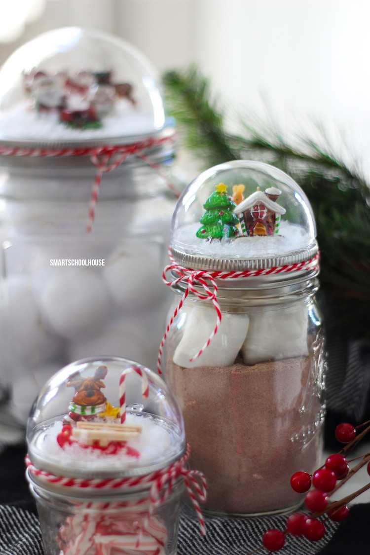 Best ideas about Craft Ideas For Christmas Gifts . Save or Pin Mason Jar Lid Snow Globe Smart School House Now.