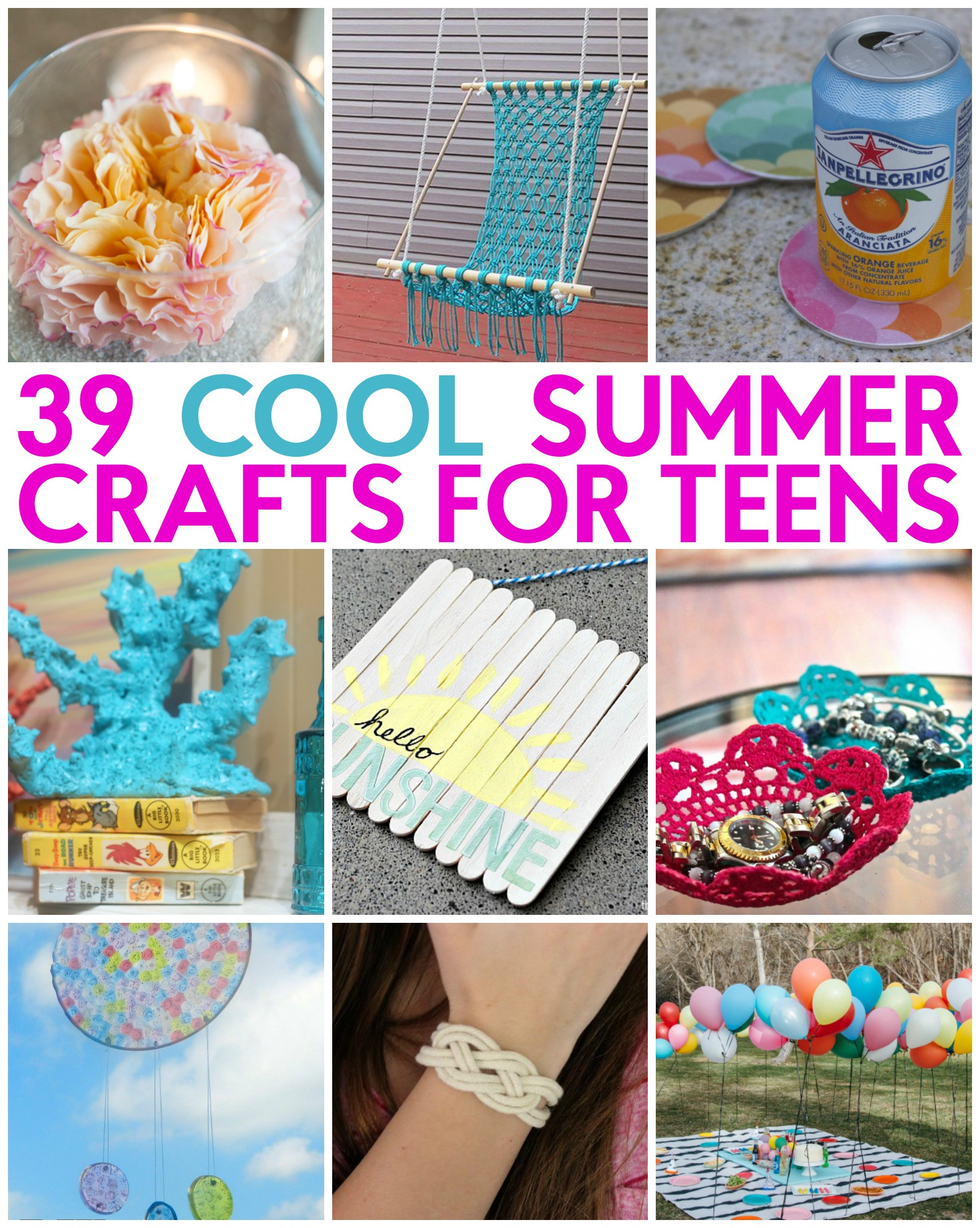 Best ideas about Craft Ideas For Teens . Save or Pin 39 Great Teen Summer Crafts A Little Craft In Your Day Now.