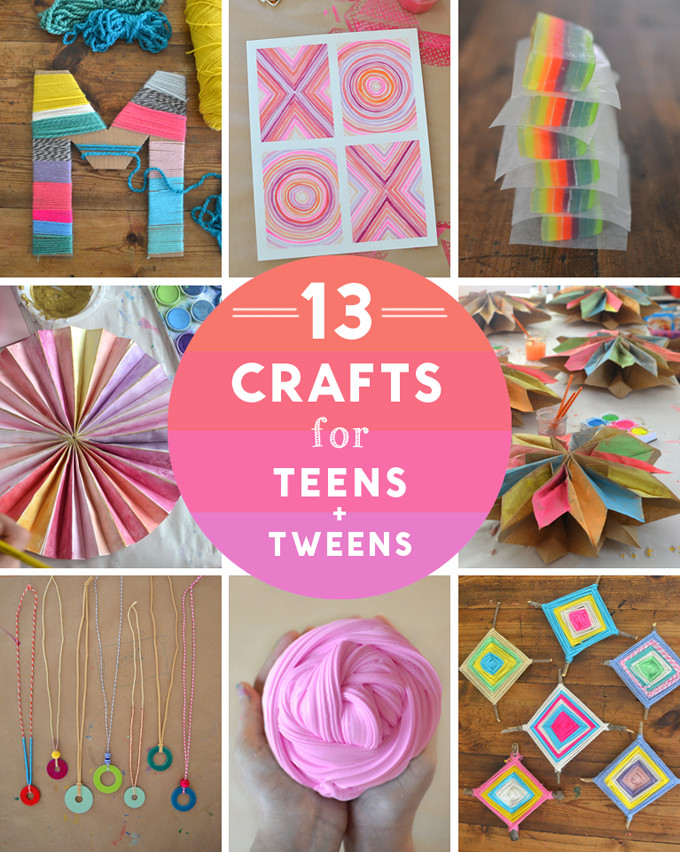 Best ideas about Craft Ideas For Teens . Save or Pin 14 Crafts for Teens and Tweens ARTBAR Now.