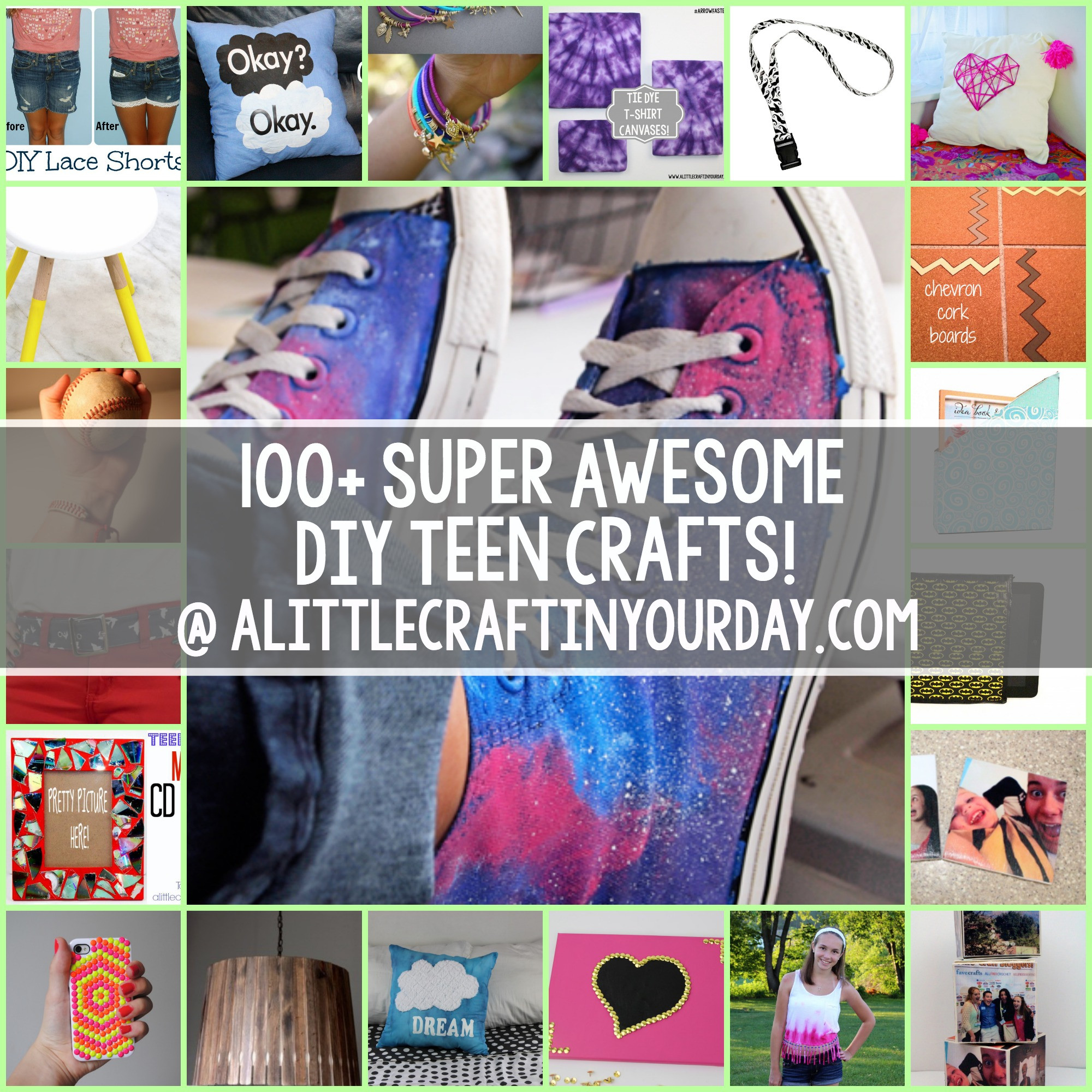 Best ideas about Craft Ideas For Teens . Save or Pin 100 Super Awesome Crafts for Teens A Little Craft In Now.