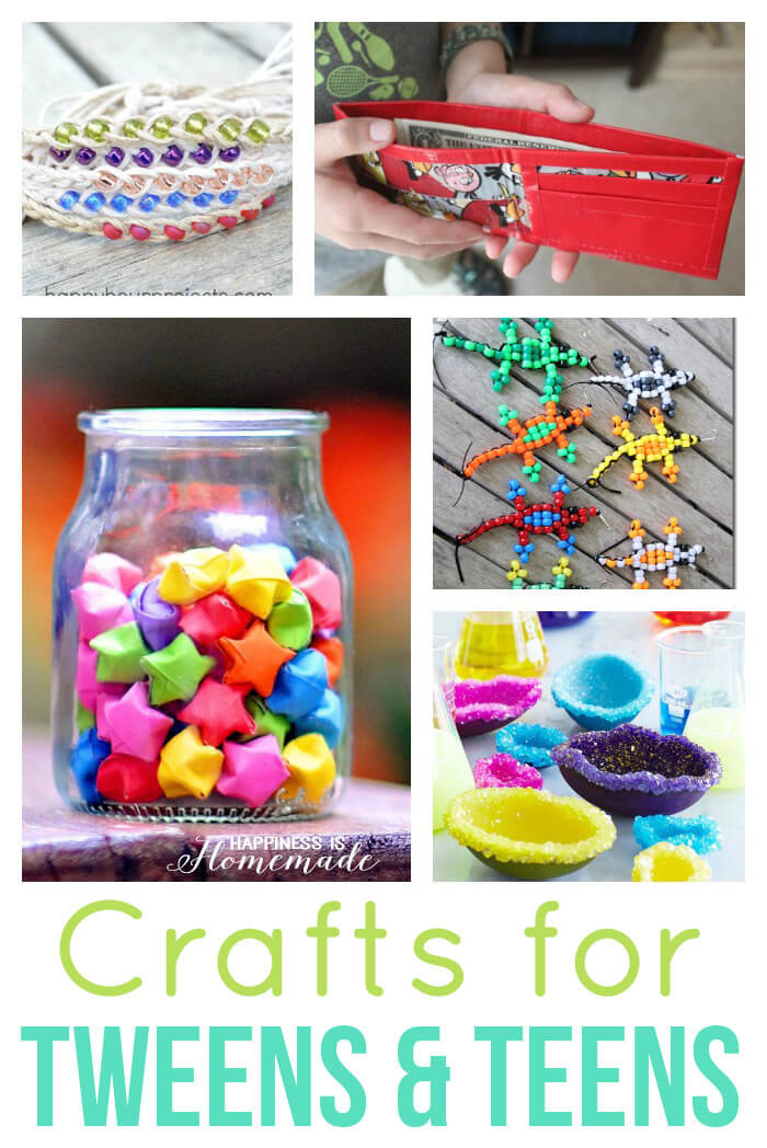 Best ideas about Craft Ideas For Teens . Save or Pin 40 Easy Crafts for Teens & Tweens Happiness is Homemade Now.