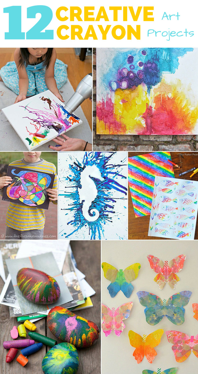 Best ideas about Craft Project Ideas . Save or Pin 12 CREATIVE CRAYON ART PROJECTS FOR KIDS Now.