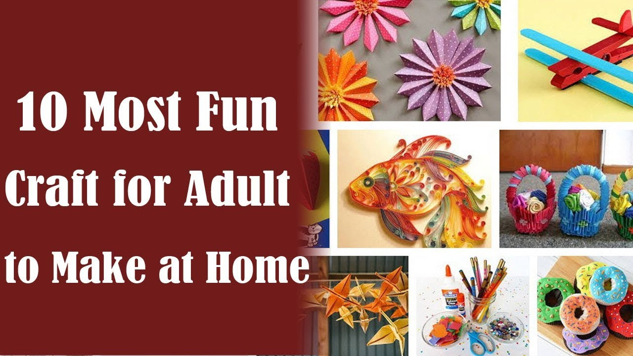 Best ideas about Craft Project Ideas For Adults . Save or Pin Crafts for Adults 10 Best Craft Ideas for Adults to Make Now.