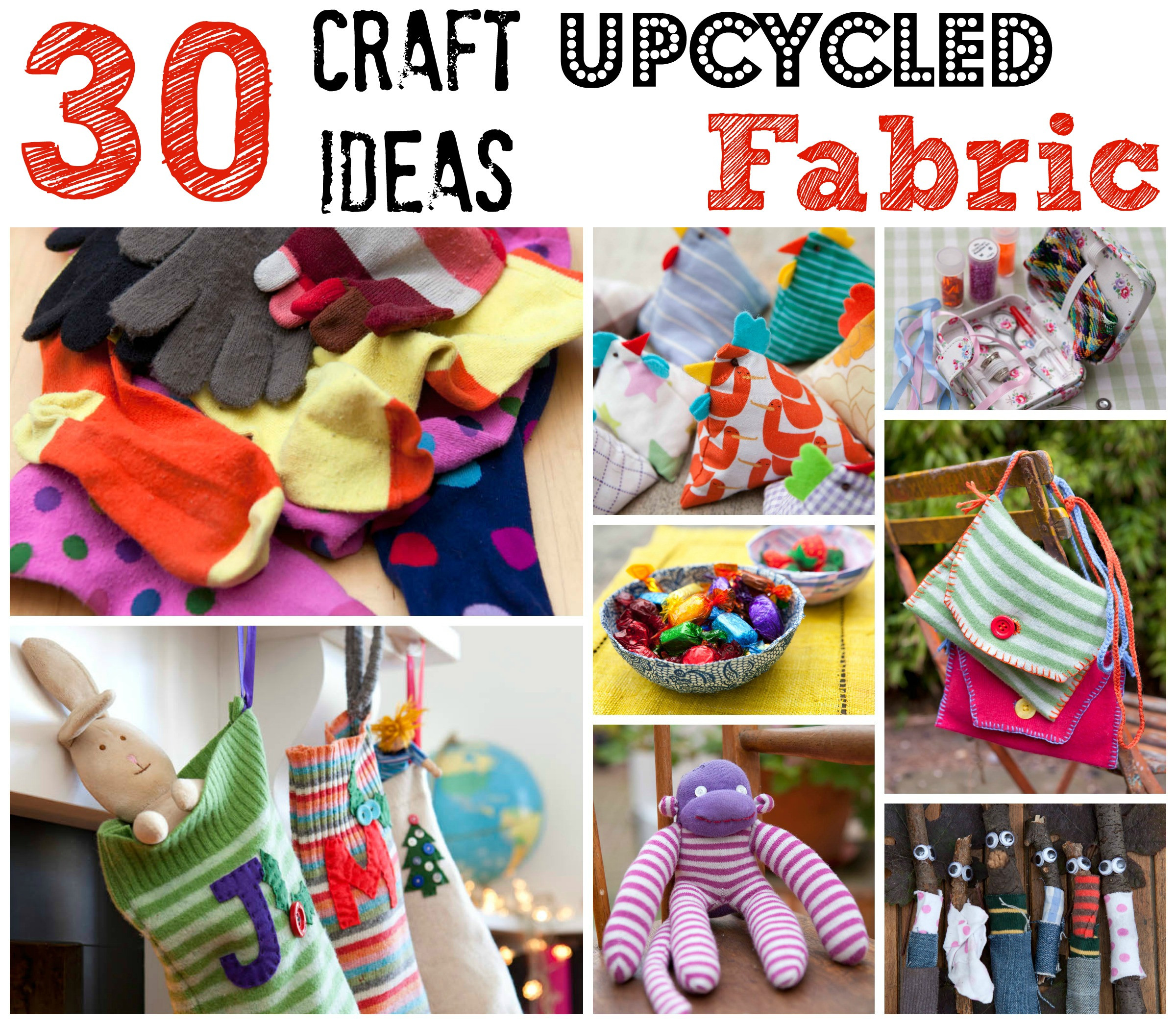Best ideas about Craft Project Ideas . Save or Pin Upcycled Fabric Craft Ideas Red Ted Art s Blog Now.