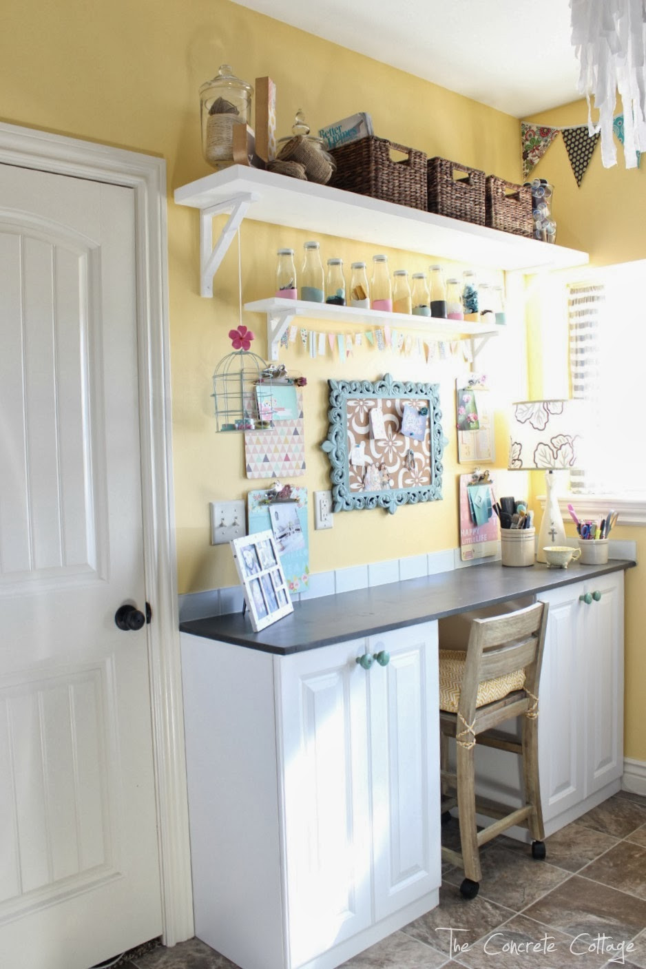 Best ideas about Craft Room Decor . Save or Pin The Concrete Cottage Craft Room Reveal Now.