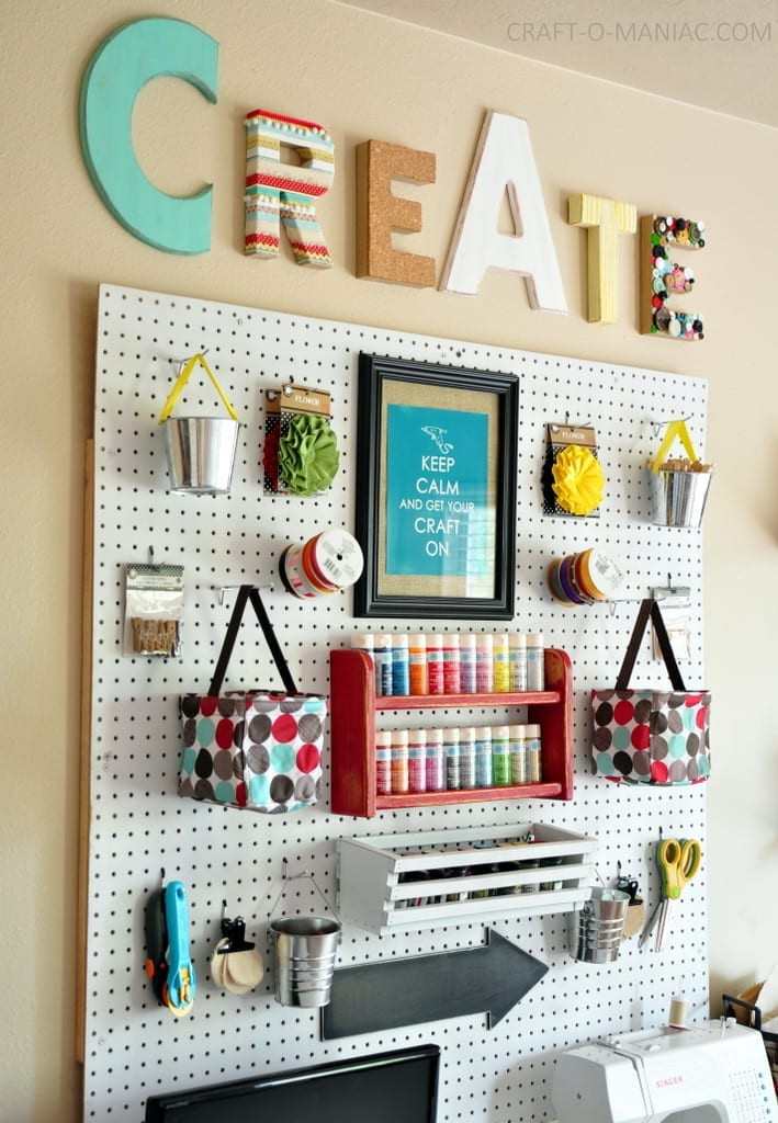 Best ideas about Craft Room Decor . Save or Pin 10 Craft Room Pegboard Organization Ideas Now.