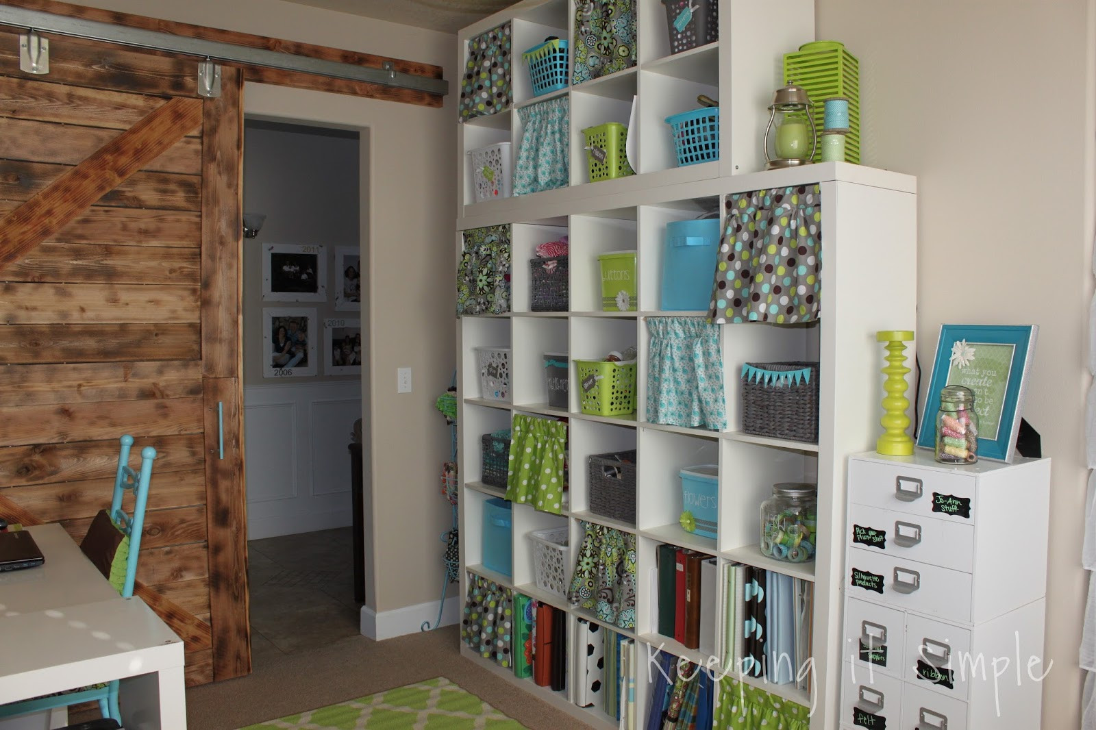 Best ideas about Craft Room Decor . Save or Pin Keeping it Simple Ikea Expedit Shelf in my craft room Now.