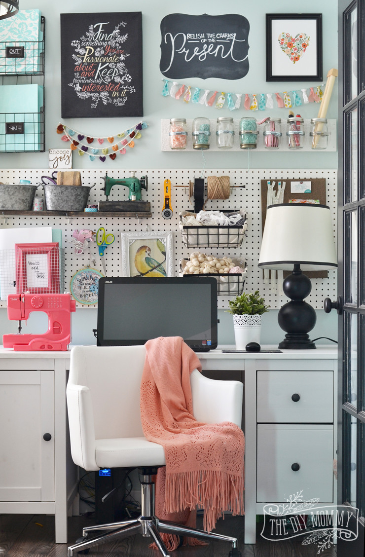 Best ideas about Craft Room Decor . Save or Pin My Colourful Boho Craft Room fice Tour Video Now.