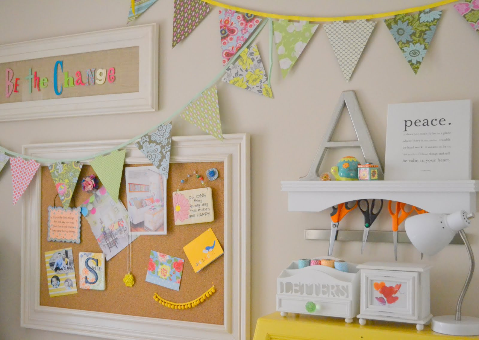Best ideas about Craft Room Decor . Save or Pin Whimsical Craft Room Decor Best nest Little Miss Momma Now.