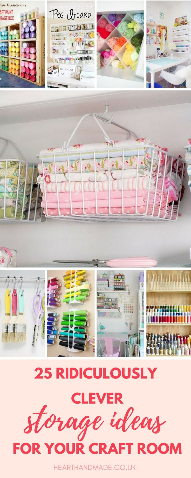 Best ideas about Craft Storage Ideas For Small Spaces . Save or Pin 25 best ideas about Small craft rooms on Pinterest Now.