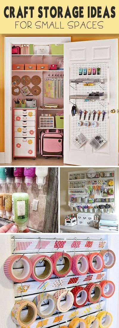 Best ideas about Craft Storage Ideas For Small Spaces . Save or Pin Craft Storage Ideas & Organizing Tips Cari Now.