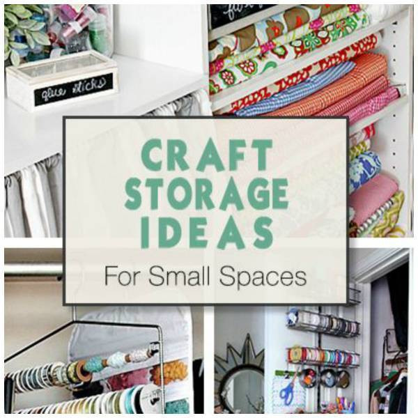 Best ideas about Craft Storage Ideas For Small Spaces . Save or Pin Storage Ideas in Small Spaces for Your Crafts Items – Home Now.