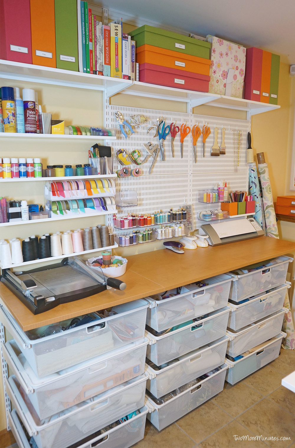 Best ideas about Craft Storage Ideas For Small Spaces . Save or Pin My Small but Efficient Craft Room Crosscut Sewing Co Now.