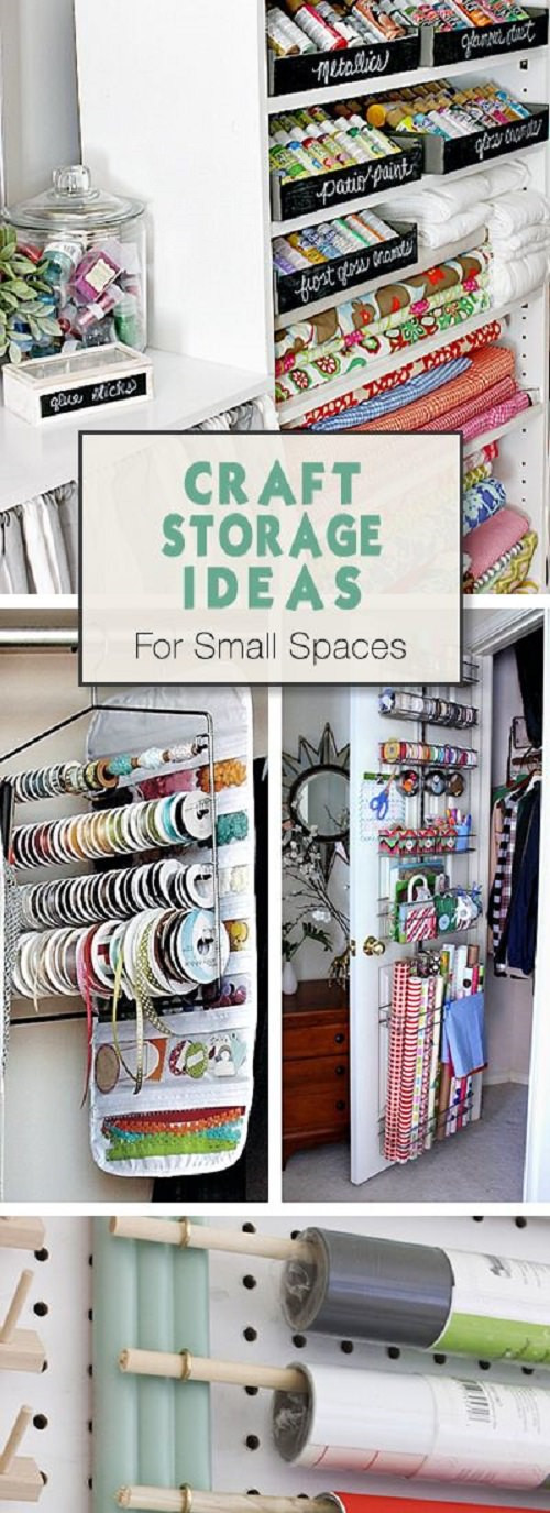 Best ideas about Craft Storage Ideas For Small Spaces . Save or Pin Craft Storage Ideas for Small Spaces • VeryHom Now.