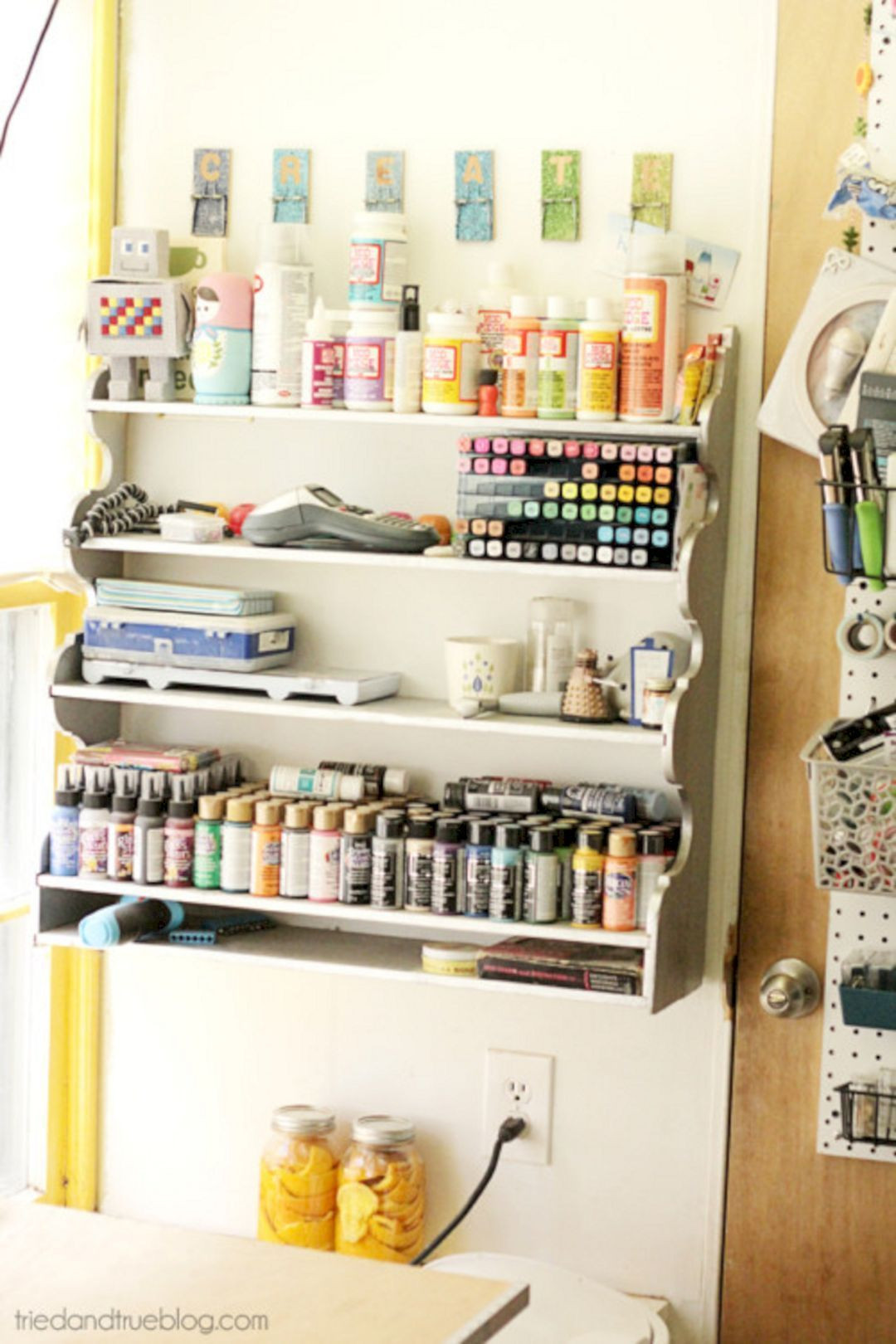 Best ideas about Craft Storage Ideas For Small Spaces . Save or Pin Craft Room Storage Ideas Small Space – DECOREDO Now.