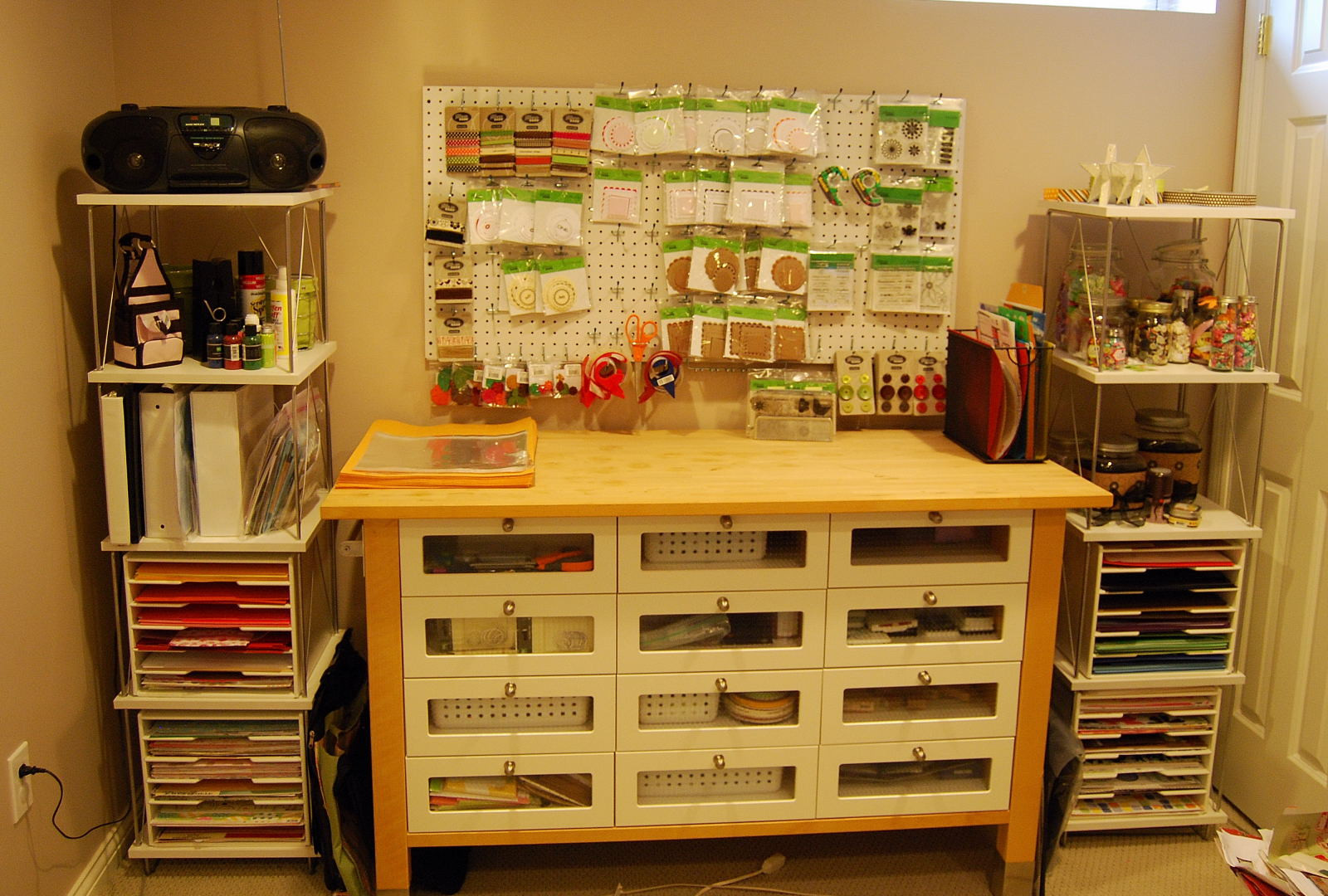 Best ideas about Craft Storage Ideas For Small Spaces . Save or Pin Craft storage furniture craft table for small spaces Now.