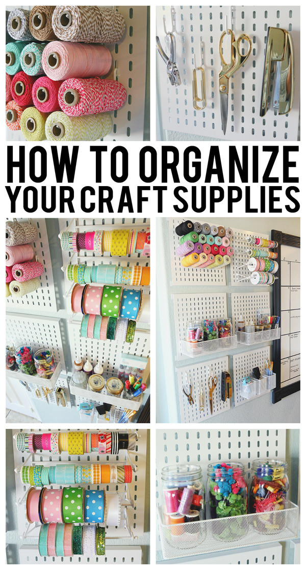 Best ideas about Craft Supply Organization Ideas . Save or Pin How To Organize Your Craft Supplies Eighteen25 Now.