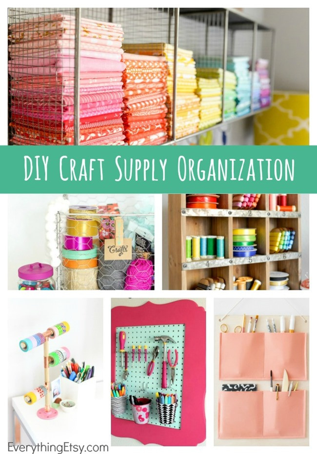 Best ideas about Craft Supply Organization Ideas . Save or Pin DIY Craft Supply Organization Now.