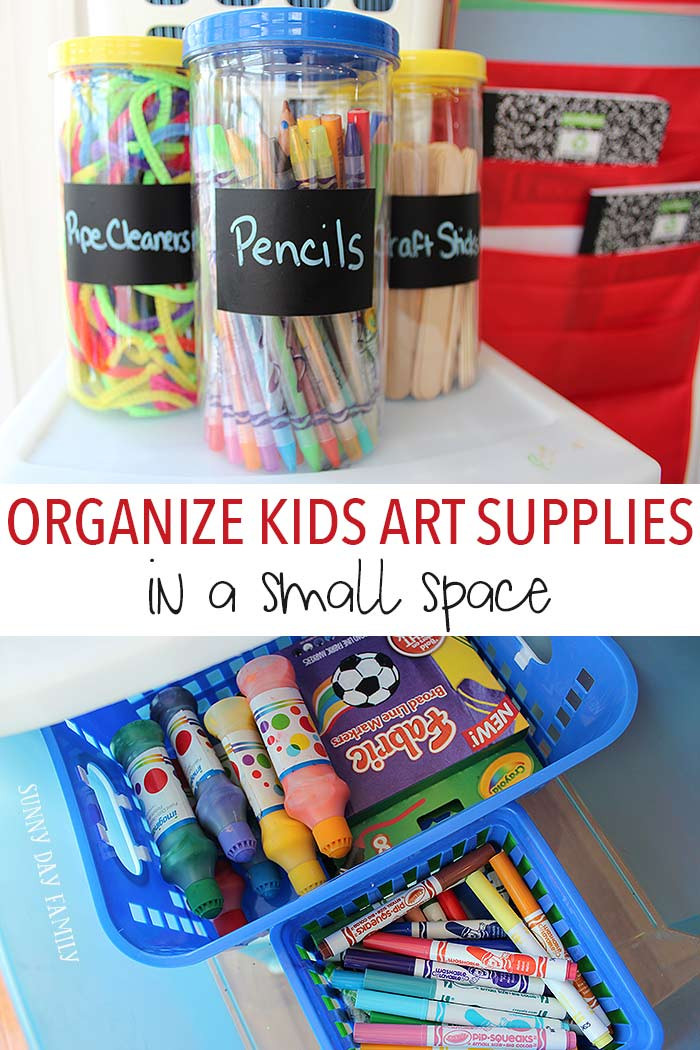 Best ideas about Craft Supply Organization Ideas . Save or Pin How to Organize Kids Art Supplies in a Small Space Now.