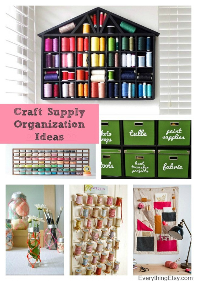 Best ideas about Craft Supply Organization Ideas . Save or Pin Organizing Craft Supplies–Fresh Ideas to Inspire Now.