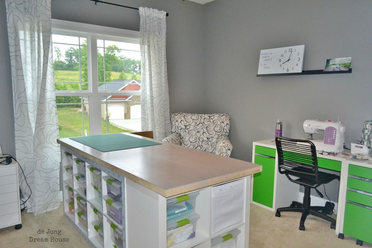 Best ideas about Craft Table Ideas . Save or Pin Craft Tables With Storage Attempting To Organize Your Now.