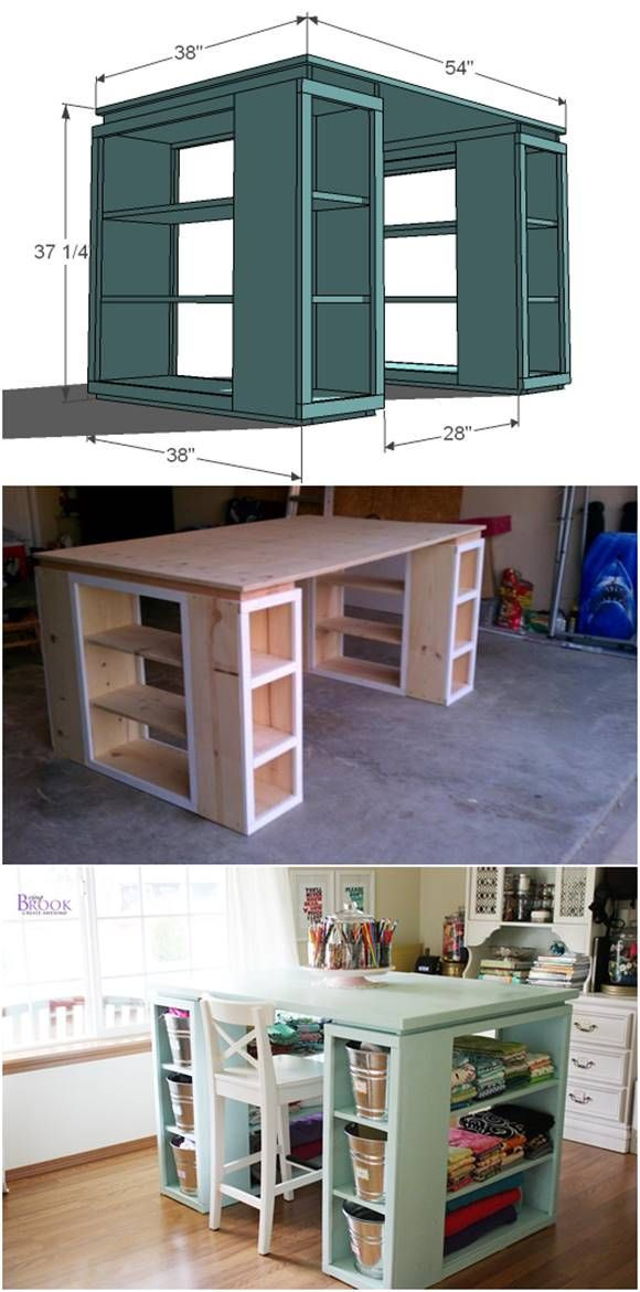 Best ideas about Craft Table Ideas . Save or Pin Creative Ideas DIY Modern Craft Table Now.