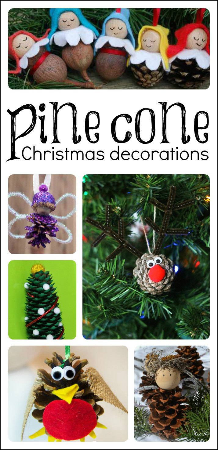 Best ideas about Crafts To Make For Christmas . Save or Pin Pine Cone Christmas Crafts for Kids to Make Now.