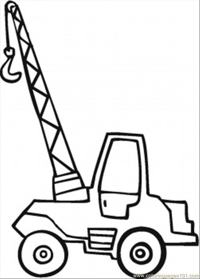 Best ideas about Crane Coloring Pages For Kids . Save or Pin Crane With Wrecking Ball Coloring Home Now.