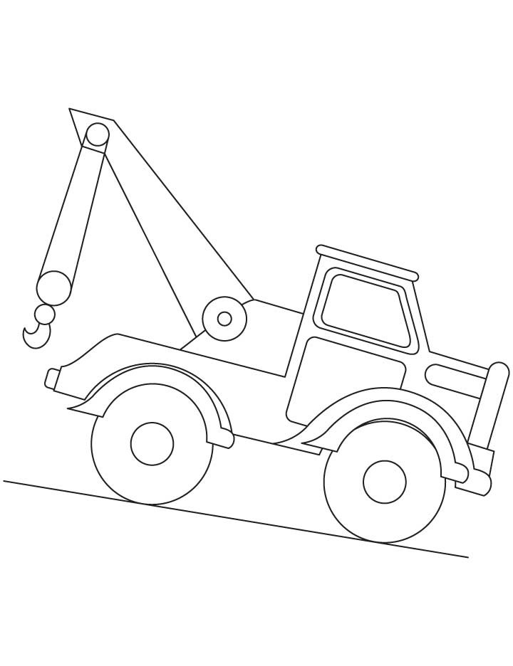 Best ideas about Crane Coloring Pages For Kids . Save or Pin Construction Crane Coloring Page Now.