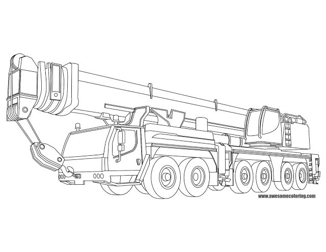 Best ideas about Crane Coloring Pages For Kids . Save or Pin Liebherr Mobile Crane Coloring Page Now.