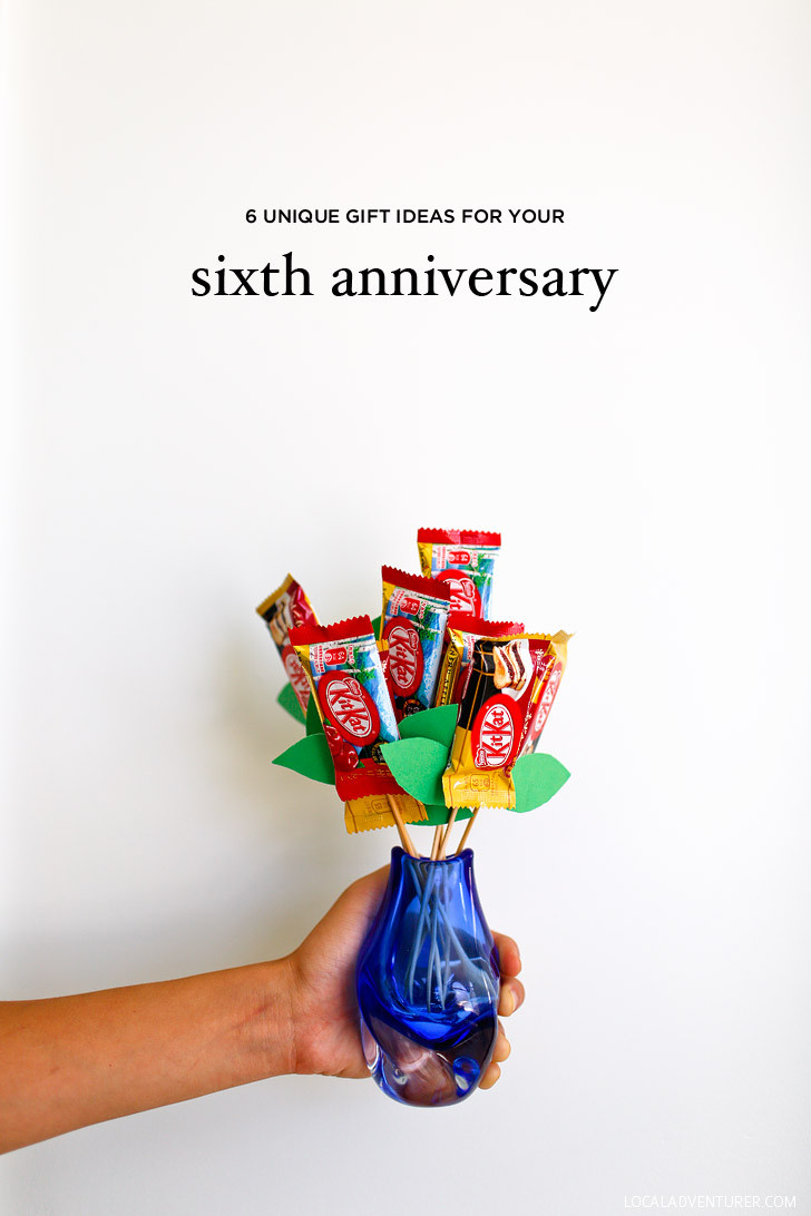 Best ideas about Creative 6Th Anniversary Gift Ideas . Save or Pin 6 Unique 6th Year Anniversary Gift Ideas Iron Sweets and Now.