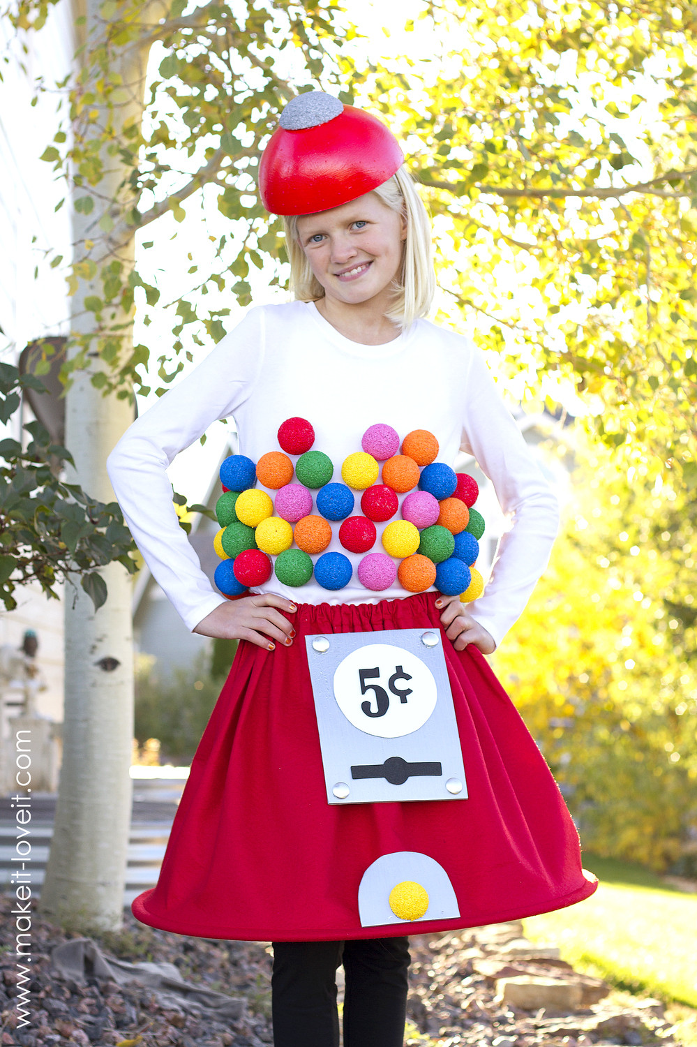 Best ideas about Creative DIY Costume . Save or Pin Gumball Machine Costume a very Low Sew project Now.