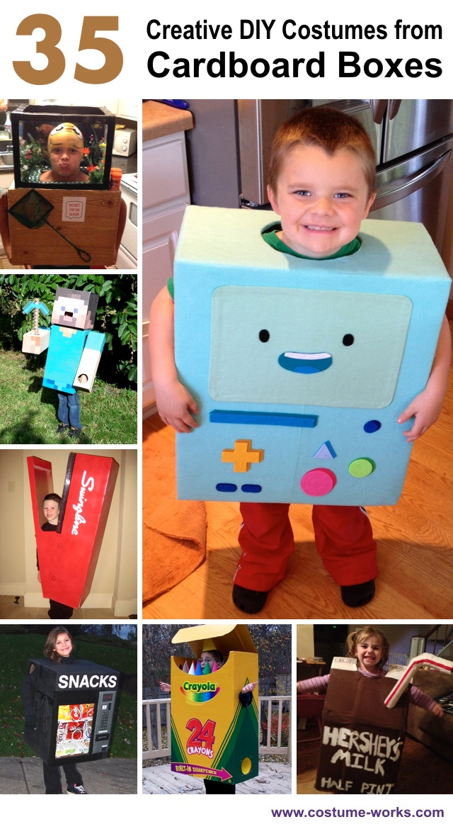 Best ideas about Creative DIY Costume . Save or Pin 35 Creative DIY Halloween Costumes from Cardboard Boxes Now.