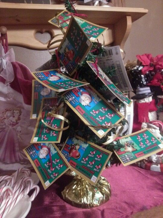 Best ideas about Creative Yankee Swap Gift Ideas . Save or Pin Scratch ticket tree yankee swap t Now.