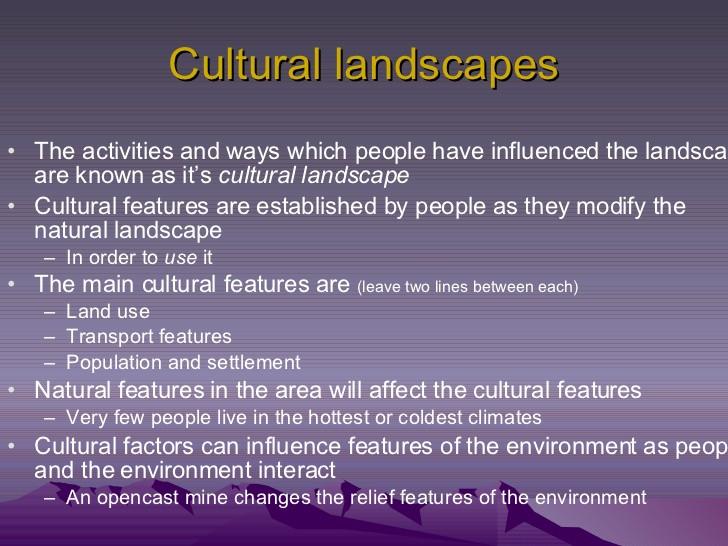 Best ideas about Cultural Landscape Examples . Save or Pin Natural & Cultural Landscape Now.
