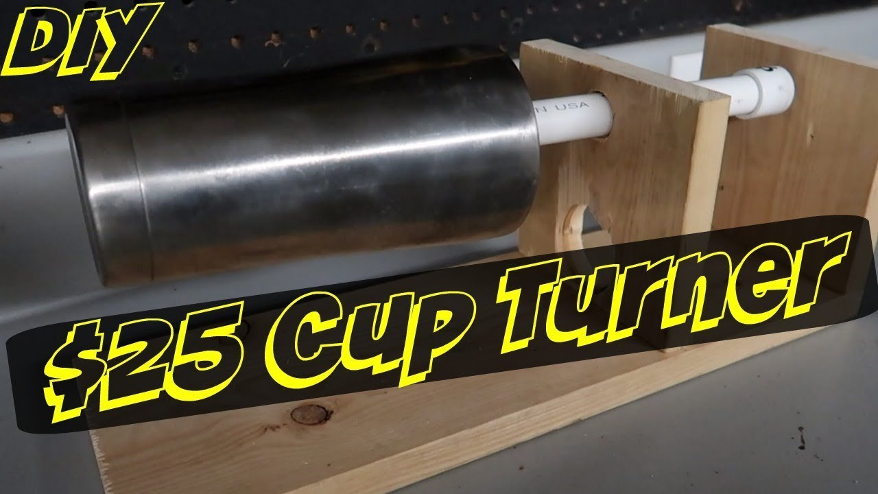 Best ideas about Cup Turner DIY . Save or Pin How To Make A $25 Epoxy Resin Cup Turner Now.