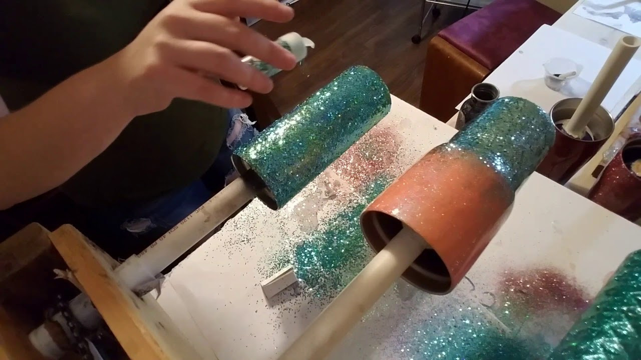 Best ideas about Cup Turner DIY . Save or Pin Chunky glitter on epoxy Now.