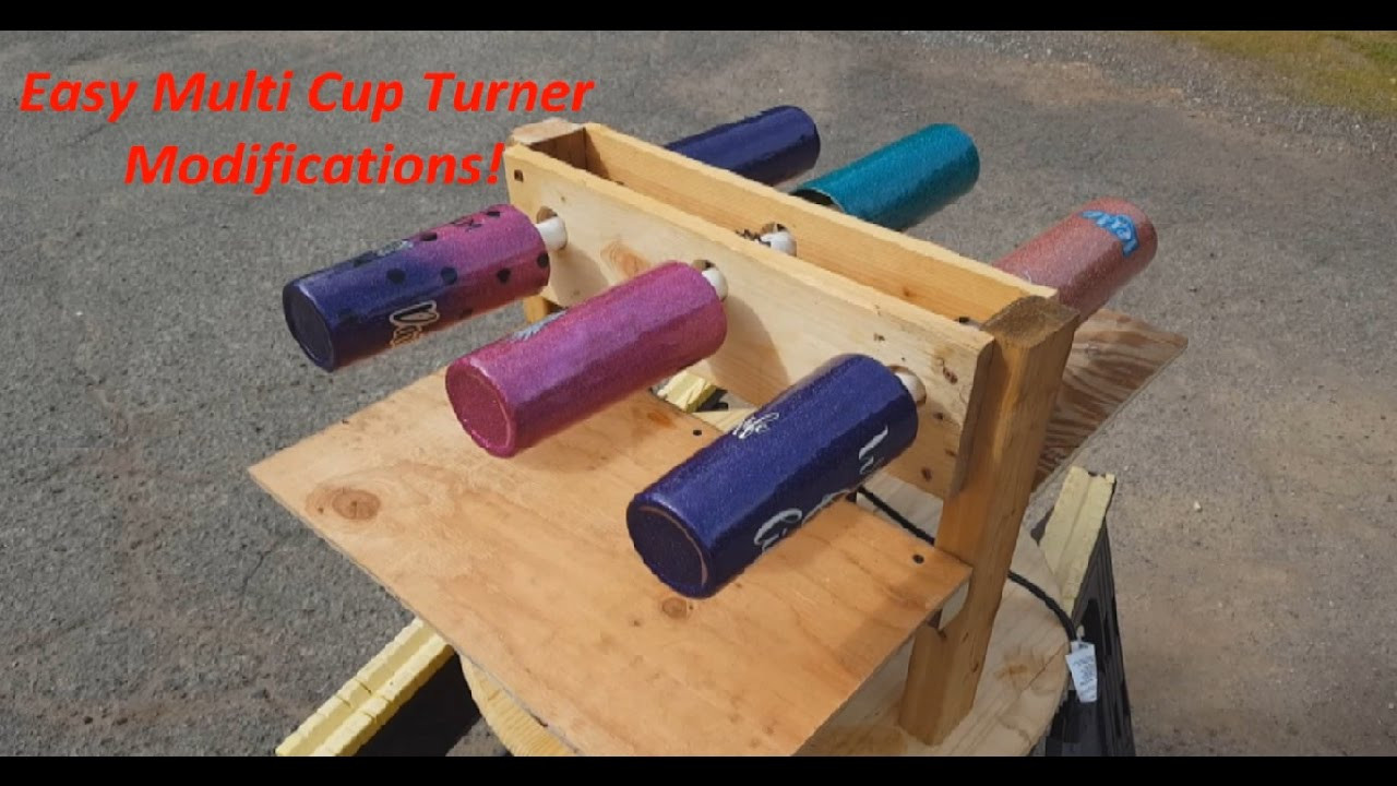 Best ideas about Cup Turner DIY . Save or Pin DIY Glitter Tumbler Multiple Cup Turner Easy Epoxy Now.
