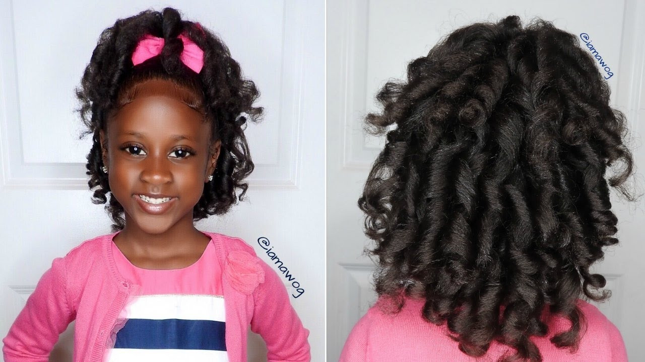 Best ideas about Curled Hairstyles For Kids . Save or Pin Overnight Heatless Curls Ft Aunt Jackie s Girls Now.