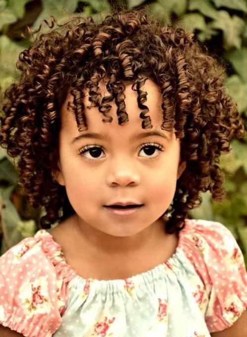 Best ideas about Curled Hairstyles For Kids . Save or Pin curly kids Now.